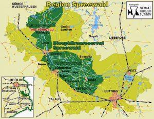 Karte Spreewald Lubbenau.Der Spreewald Spreewaldoase